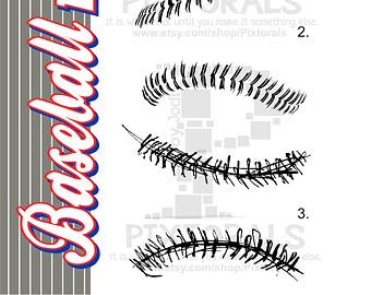 Baseball clipart lace #7