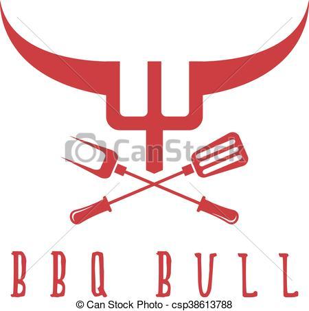 Bull clipart bbq BBQ BBQ vector rustic template