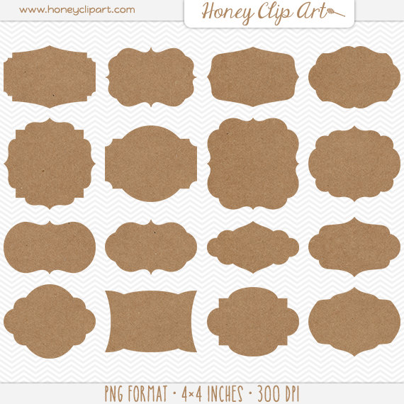 Shapes clipart printable banner #1