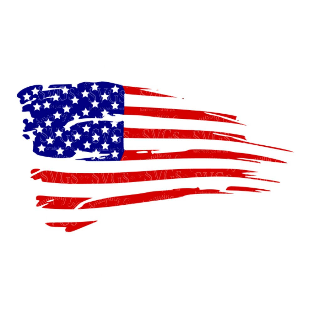 American Flag clipart rustic Flag Distressed US American This