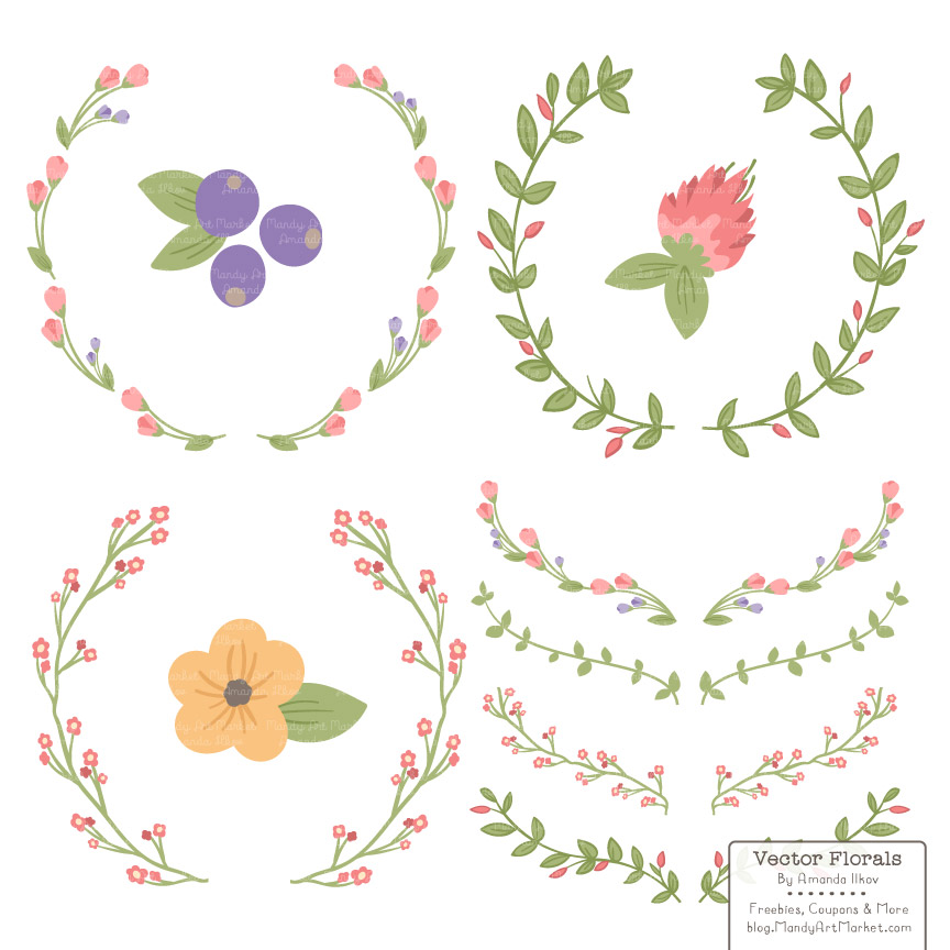 Wildflower clipart simple flower Free Come August wreaths 3