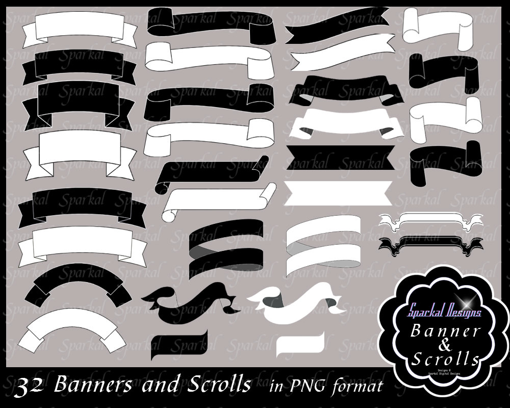 Photoshop clipart banner Frames labels clip Digital Printable