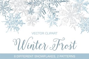Winter clipart frost Snowflakes Vector Graphics  Clipart