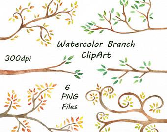Branch clipart watercolor Branch branch art branch clip