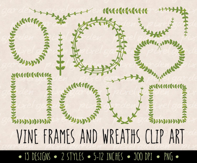 Wreath clipart vine wreath Laurel  Art and a