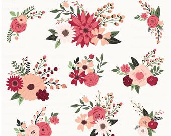 Rustic clipart wedding floral Floral Flowers Clip Art Art