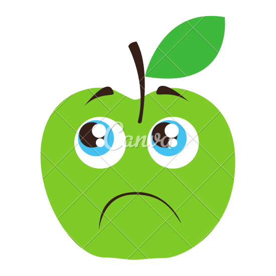 Apple clipart sad Sad Icons by Canva Apple