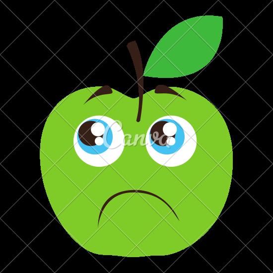 Sad clipart apple #9