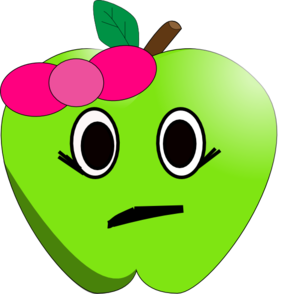 Apple clipart sad Apple online vector Art com