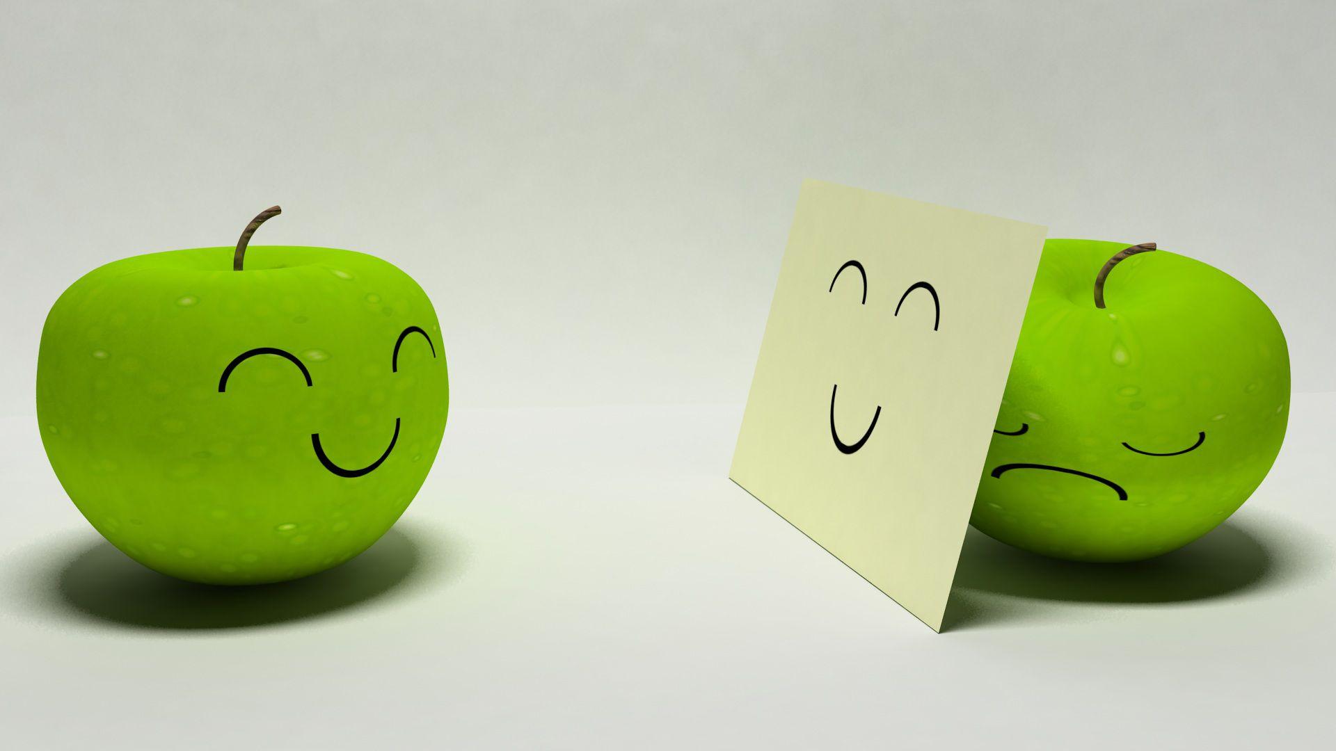 Sad clipart apple #8