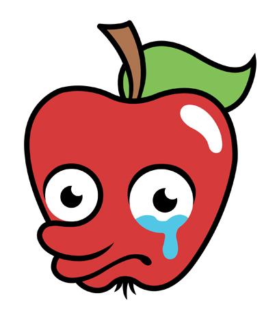 Sad clipart apple #6