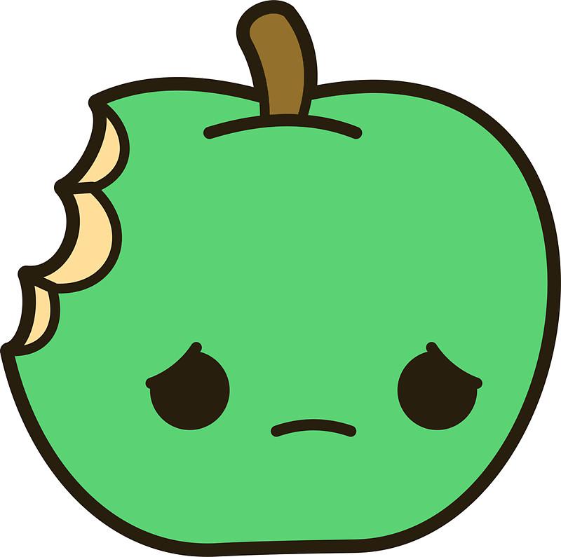 Sad clipart apple #3