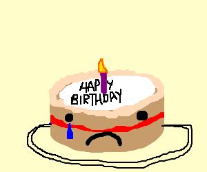 Sad clipart birthday #8