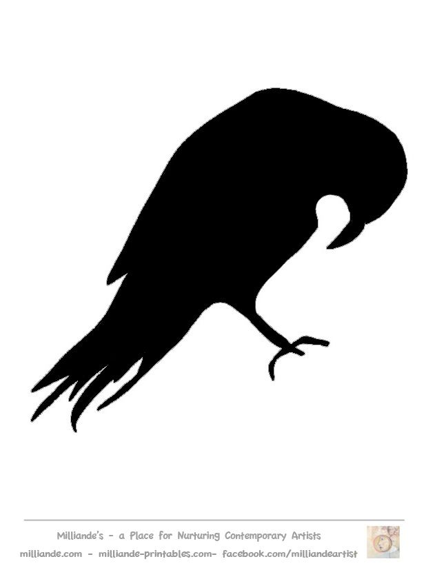Crow clipart stencil On 25+ ideas Free com