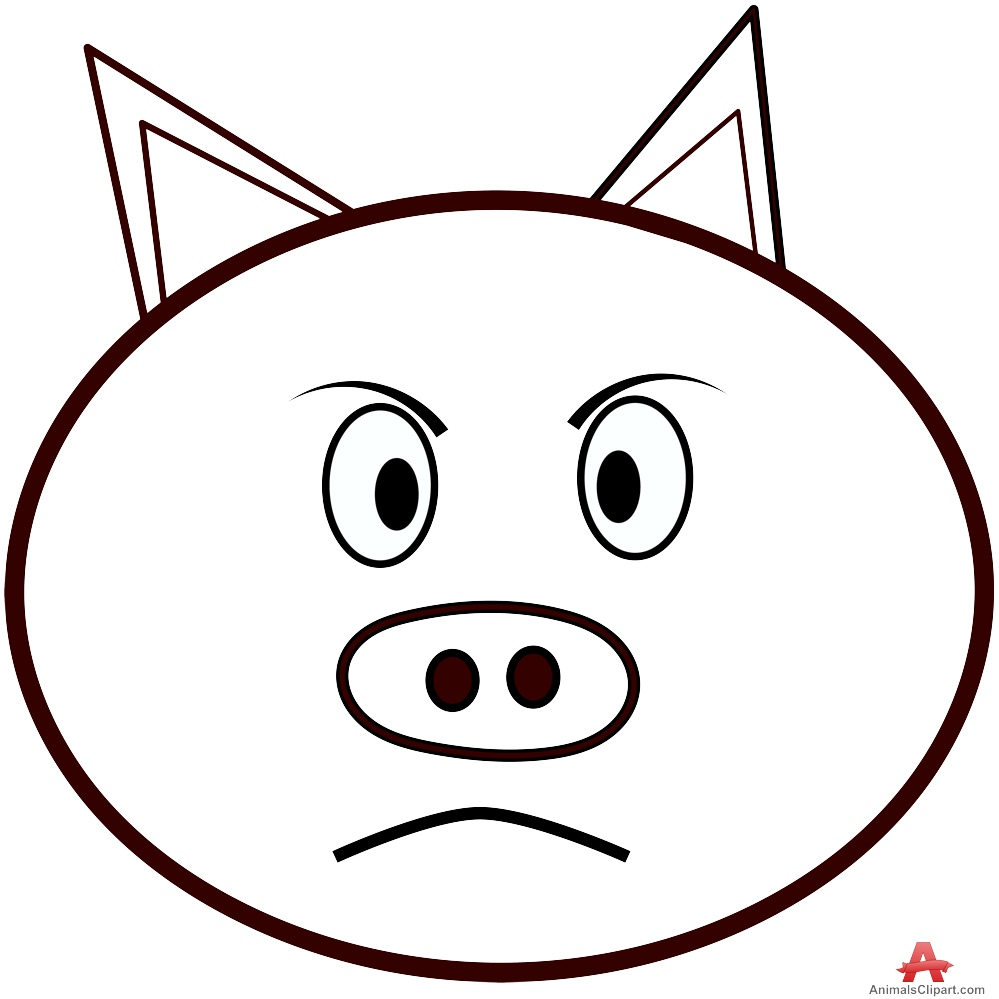 Boar clipart face Animals Free Pig Animals by