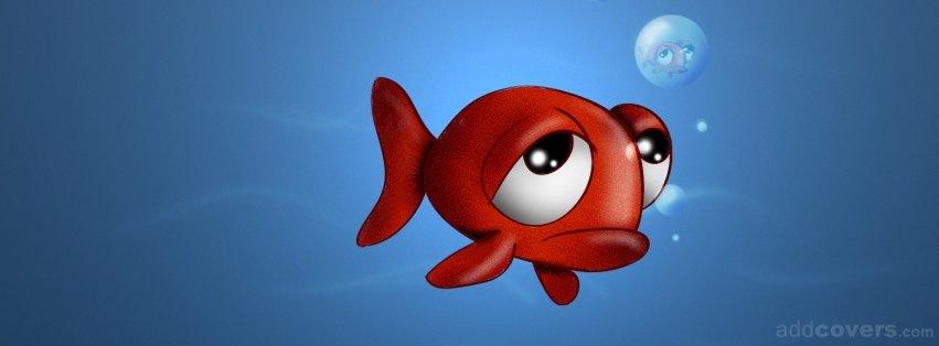Sad clipart fish #6