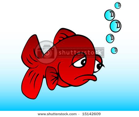 Sad clipart fish #3