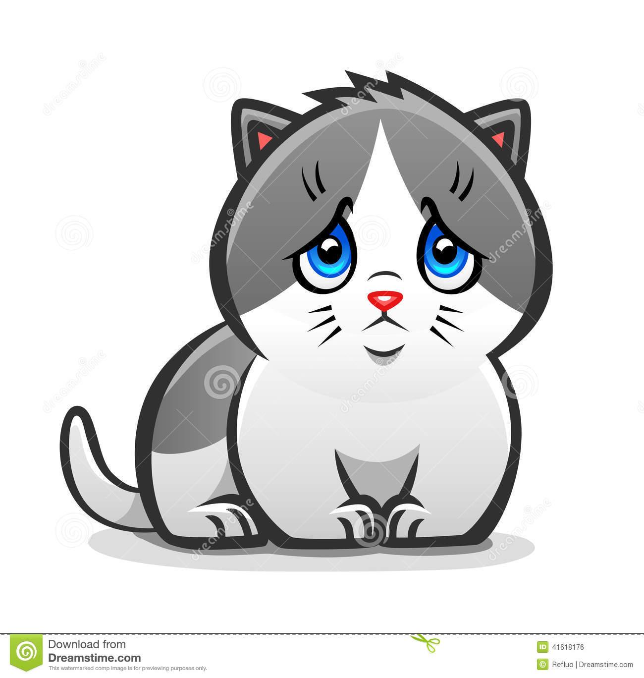 Sad clipart kitten #7