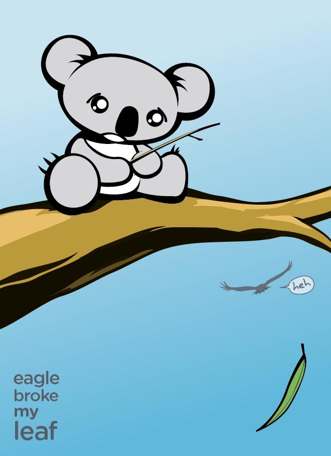 Sad clipart koala #14