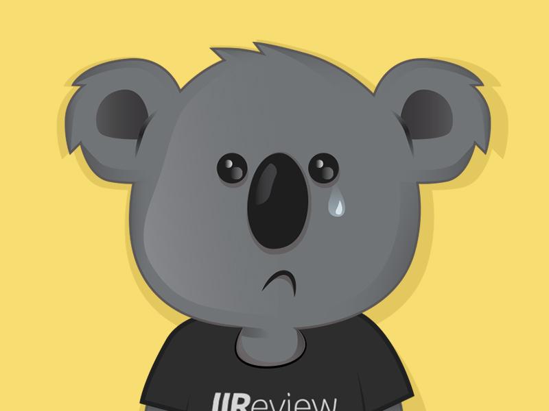 Sad clipart koala #8