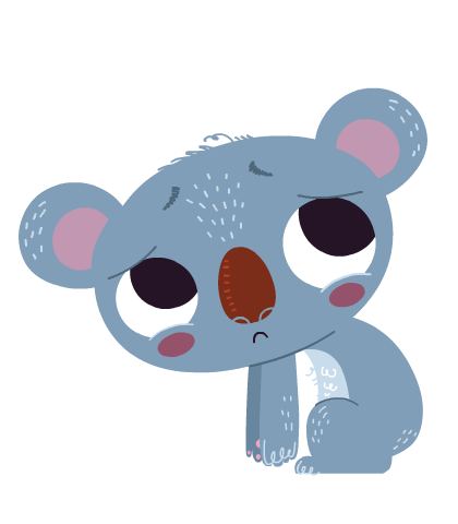 Sad clipart koala #9