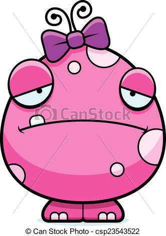 Monster clipart sad Baby Vector Sad Girl Monster