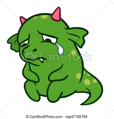 Monster clipart sad Cute csp47165764 Cute crying sad