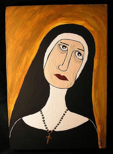 Sad clipart nun #4