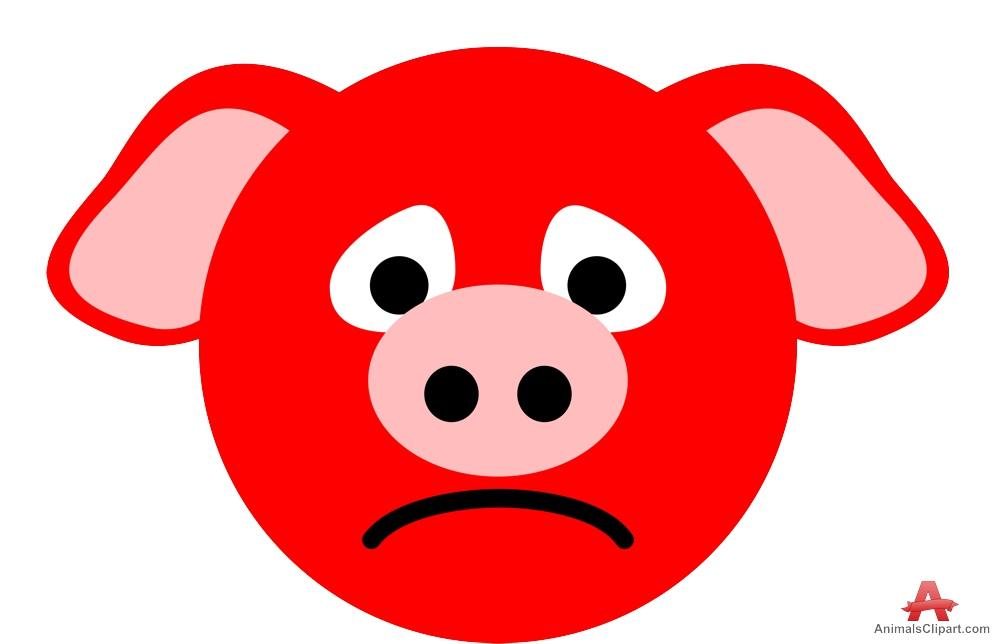 Boar clipart face Download Free Sad Pig Design