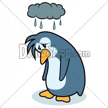 Penguin clipart rain Free Images Cloud Clipart Panda