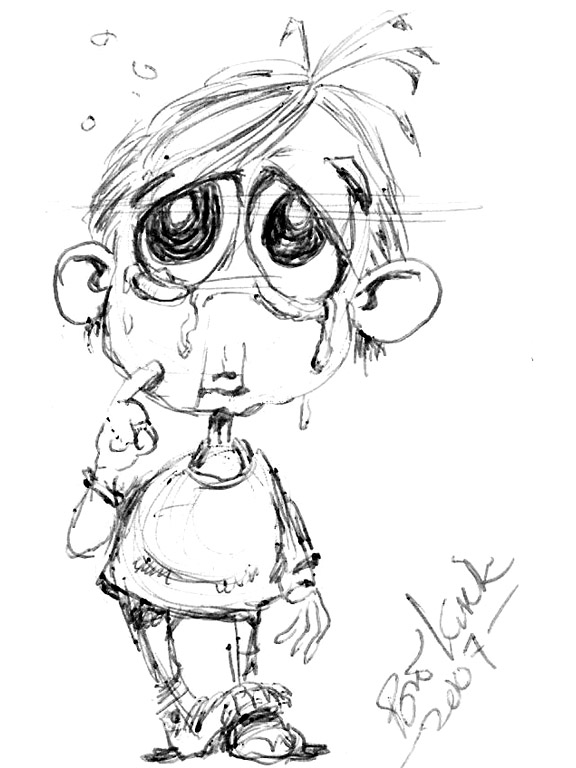 Sad clipart sad kid #15