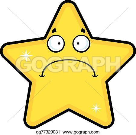 Sad clipart star #15