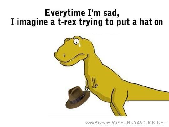 Sad clipart t rex #7