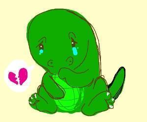 Sad clipart t rex #13