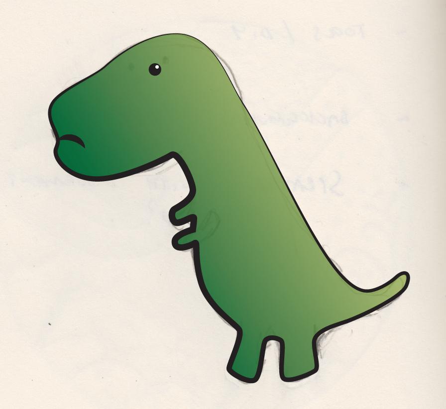Sad clipart t rex #3