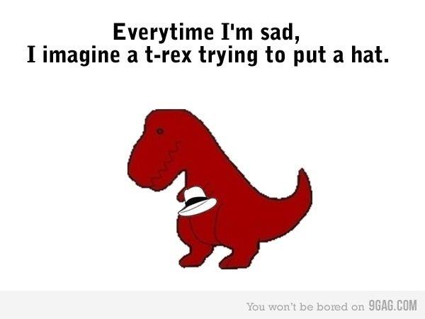 Sad clipart t rex #2