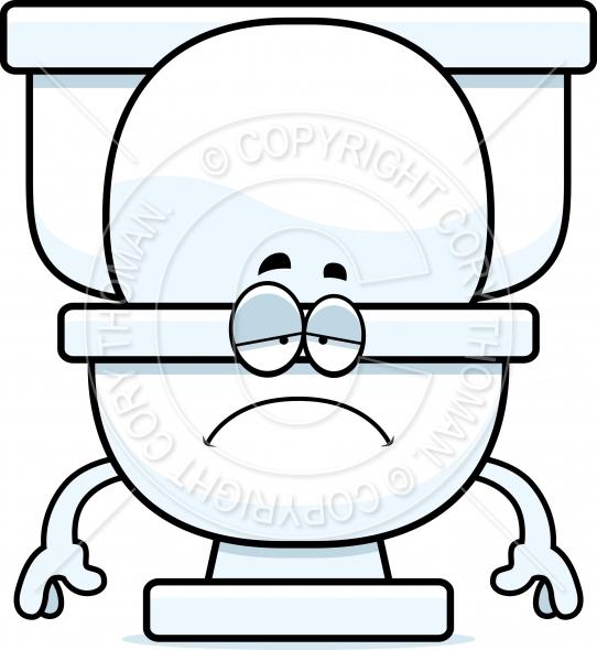 Toilet clipart sad #3