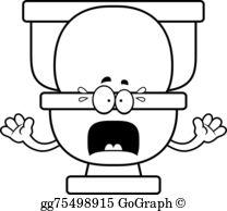 Toilet clipart sad #1