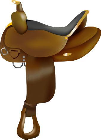 Saddle clipart #6