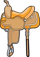 Saddle clipart #7