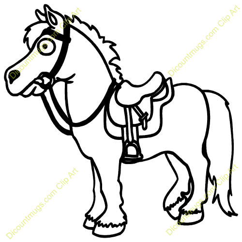 Saddle clipart horse saddle #11
