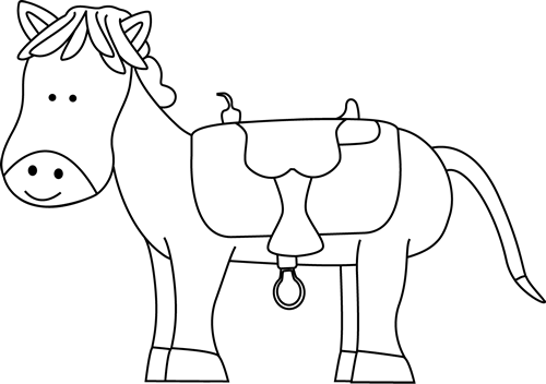 Saddle clipart horse saddle #4