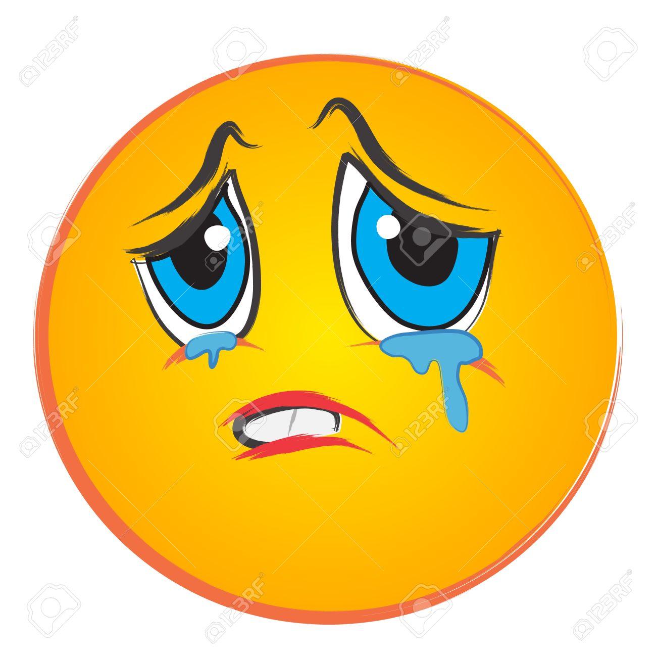 Tears clipart animated Crying Clip face Sad &