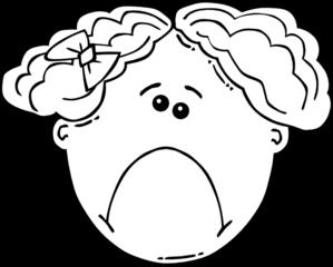 Black & White clipart sad  Sad sad face Clipartix