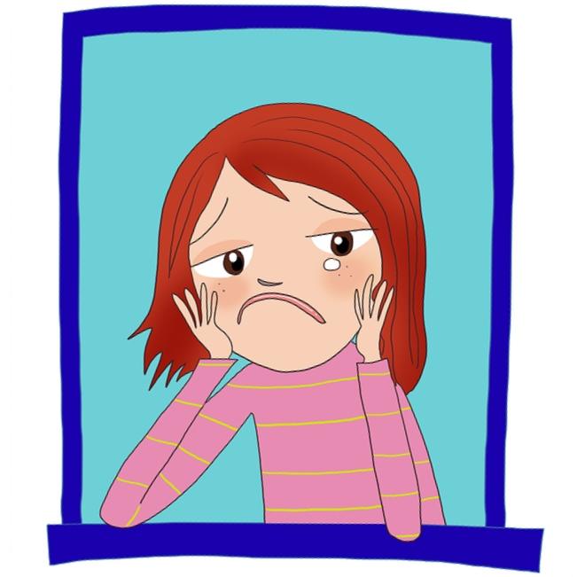 Depression clipart sad mother Sad Girl Free on Becuo