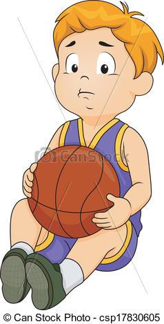 Sad clipart basketball player #1