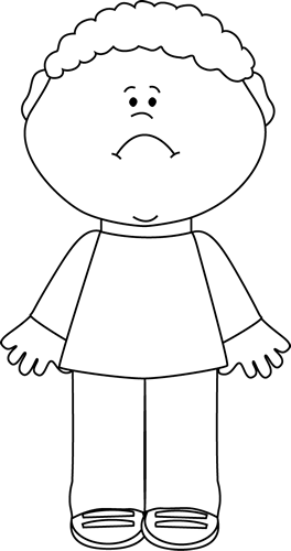 Sad clipart black boy #1