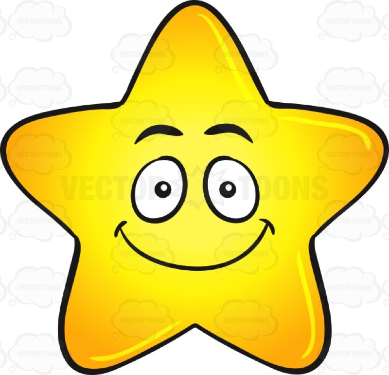 Smiley clipart star Emoji Gold Happy Clipart Star
