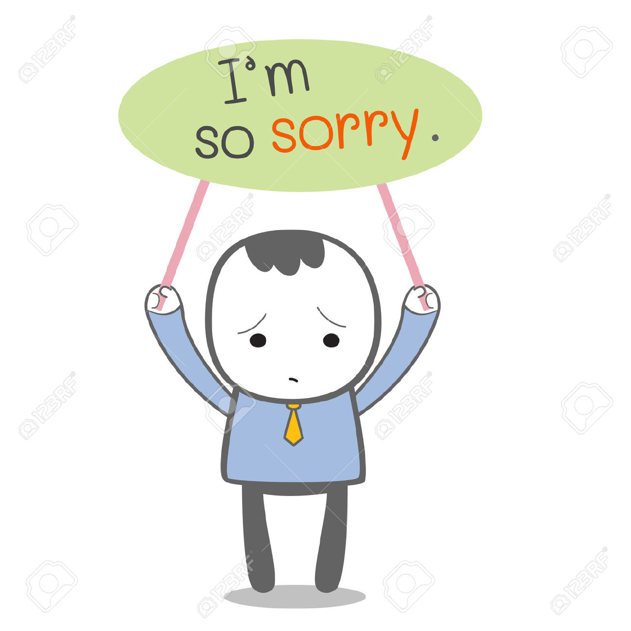 Sadness clipart im sorry Sorry Apology Clipart message apology: