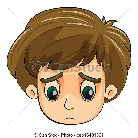 Sadness clipart sad little boy #5